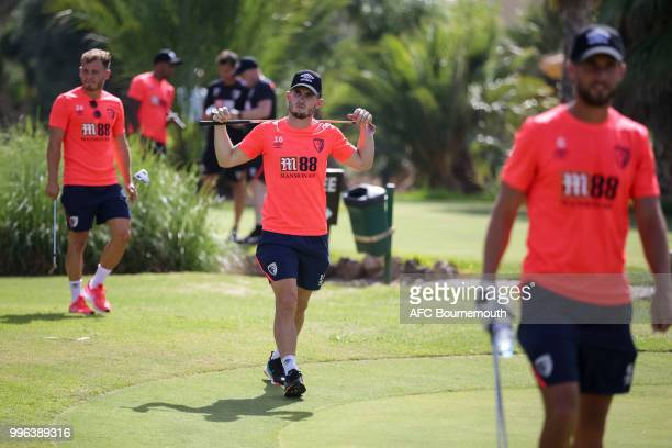 Lewis Cook of Bournemouth during a team bonding game of mini-golf at their training camp at La Manga, Spain on July 11, 2018 in La Manga, Spain.