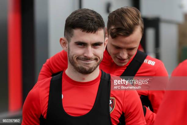 Lewis Cook of Bournemouth during an AFC Bournemouth training session at Vitality Stadium on March 14 2018 in Bournemouth England