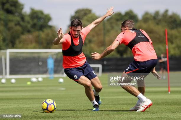 Lewis Cook of Bournemouth during preseason training at Vitality Stadium on July 24 2018 in Bournemouth England