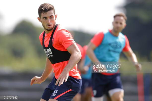 Lewis Cook of Bournemouth during preseason training at Vitality Stadium on August 7 2018 in Bournemouth England