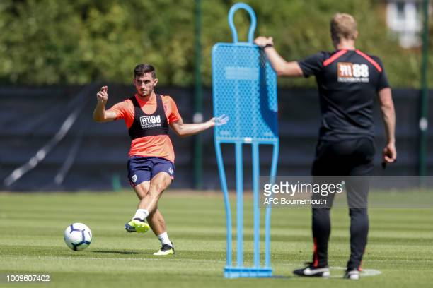 Lewis Cook of Bournemouth during preseason training session at Vitality Stadium on August 2 2018 in Bournemouth England