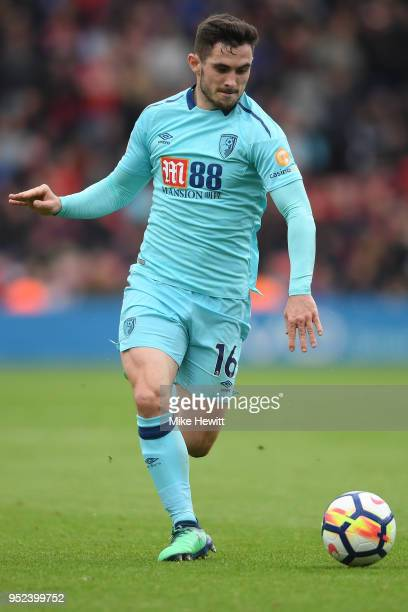 Lewis Cook of Bournemouth in action during the Premier League match between Southampton and AFC Bournemouth at St Mary's Stadium on April 28 2018 in...