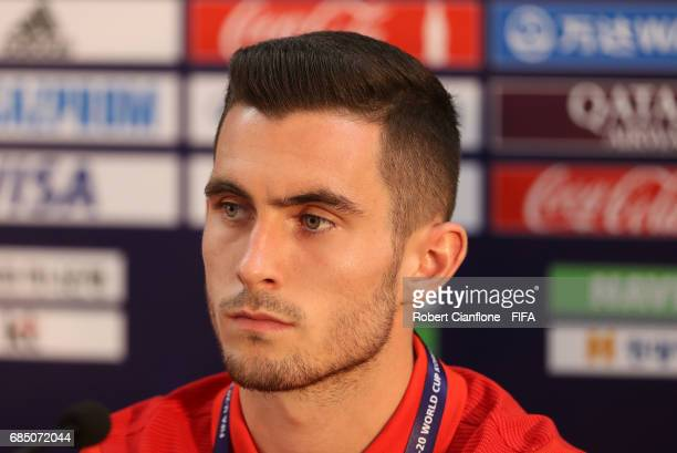 Lewis Cook of England during a joint England and Argentina press conference at the Jeonju World Cup Stadium ahead of the FIFA U20 World Cup on May 19...