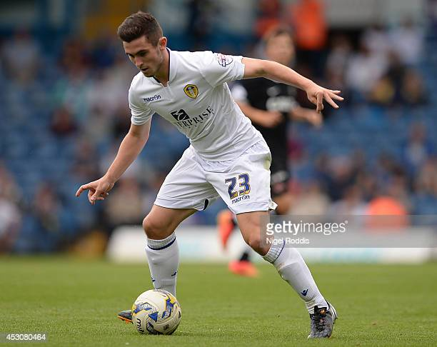 Lewis Cook of Leeds United during a preseason friendly match between Leeds United and Dundee United at Elland Road on August 2 2014 in Leeds England
