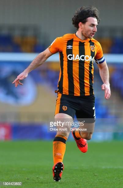 Lewis Coyle of Hull City during the Sky Bet League One match between AFC Wimbledon and Hull City at Plough Lane on February 27, 2021 in Wimbledon,...