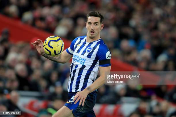Lewis Dunk of Brighton and Hove Albion during the Premier League match between Liverpool FC and Brighton & Hove Albion at Anfield on November 30,...