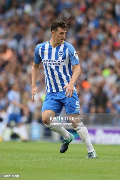 Lewis Dunk of Brighton and Hove Albion during the Premier League match between Brighton and Hove Albion and West Bromwich Albion at Amex Stadium on...