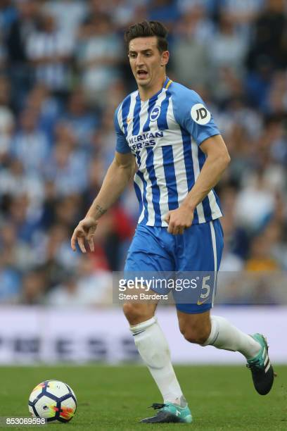 Lewis Dunk of Brighton and Hove Albion in action during the Premier League match between Brighton and Hove Albion and Newcastle United at Amex...
