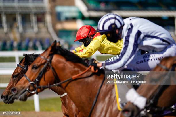 Lewis Edmunds riding Queen Of Kalahari to win The #betyourway At Betway Handicapat Newcastle Racecourse Issue date Monday June 1 2020