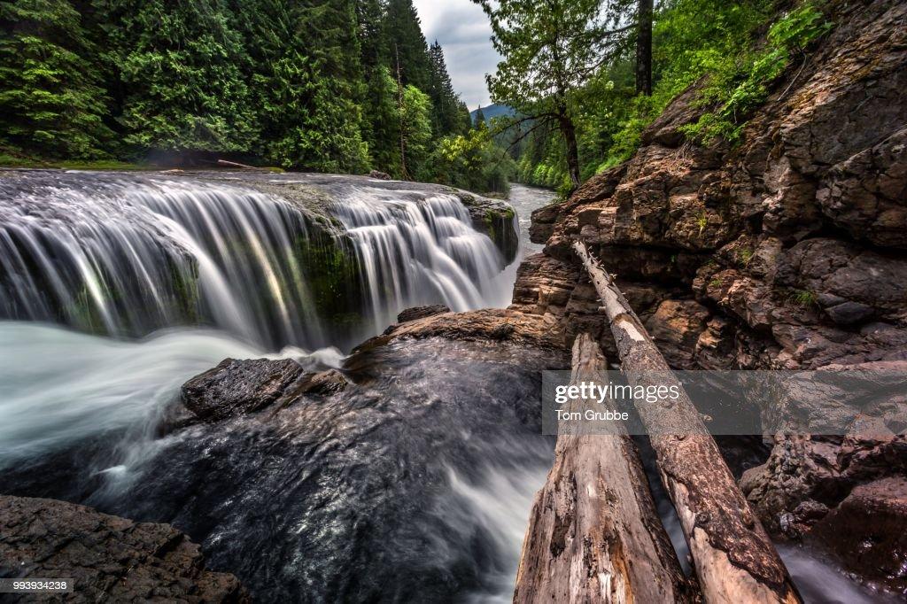 Lewis Falls Cascade : Stock Photo