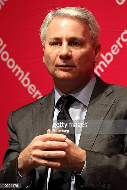 Lewis Feldman partner and Los Angeles chairman of Goodwin Procter LLP speaks during the Bloomberg Link Pensions and Endowment Portfolio Strategies...