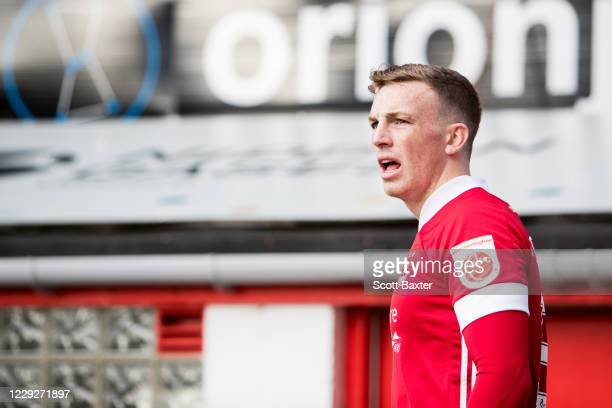 Lewis Ferguson of Aberdeen during the Ladbrokes Premiership match between Aberdeen and Celtic at Pittodrie Stadium on October 25 2020 in Aberdeen...