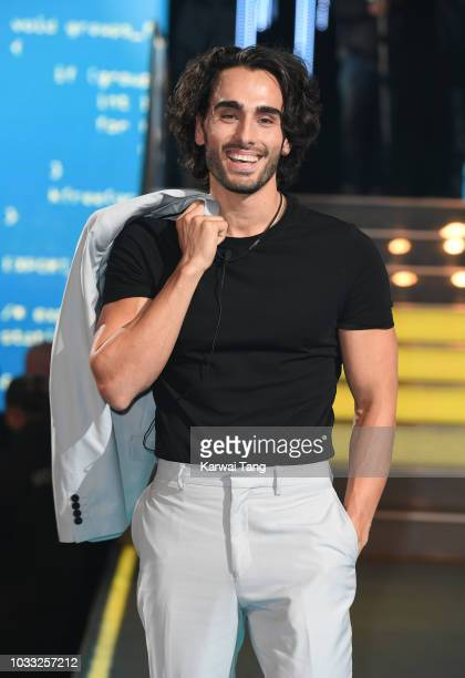 Lewis Flanagan enters the Big Brother house at Elstree Studios on September 14 2018 in Borehamwood England