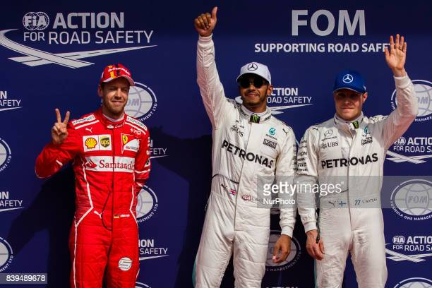 Lewis from Great Britain of team Mercedes GP 05 VETTEL Sebastian from Germany of scuderia Ferrari and 77 BOTTAS Valtteri from Finland of team...