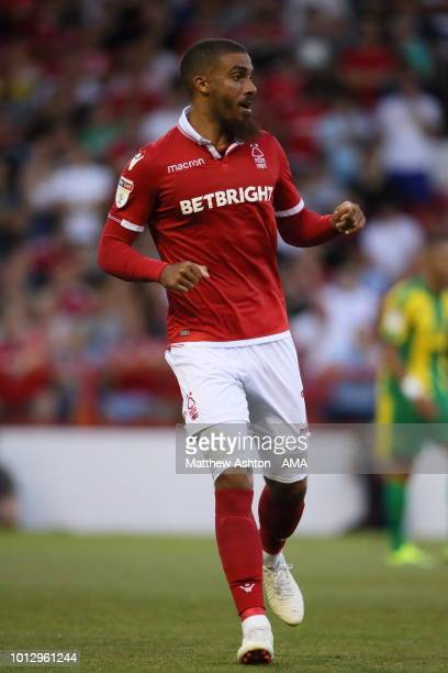 Lewis Grabban of Nottingham Forest during the Sky Bet Championship match between Nottingham Forest v West Bromwich Albion at City Ground on August 7...