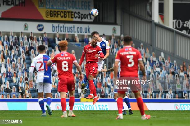 Lewis Grabban of Nottingham Forest during the Sky Bet Championship match between Blackburn Rovers and Nottingham Forest at Ewood Park Blackburn...