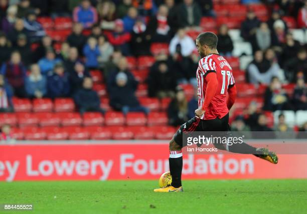 Lewis Grabban of Sunderland scores from the penalty spot for Sunderland's first goal during the Sky Bet Championship match between Sunderland and...