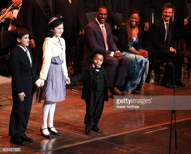 Lewis Grosso Lilla Crawford Joshua G Windley Company during the Curtain Call for the Manhattan Concert Production of 'Ragtime In Concert' at Avery...
