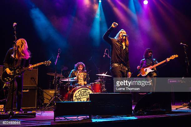 Lewis Grounds Sayon BeaufortHarwood Conor Wilde and Cameron Gavin of Sittin Pretty performs at O2 Shepherd's Bush Empire on November 11 2016 in...