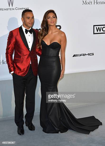 Lewis Hamilton and Nicole Scherzinger attend amfAR's 21st Cinema Against AIDS Gala Presented By WORLDVIEW BOLD FILMS And BVLGARI at the 67th Annual...