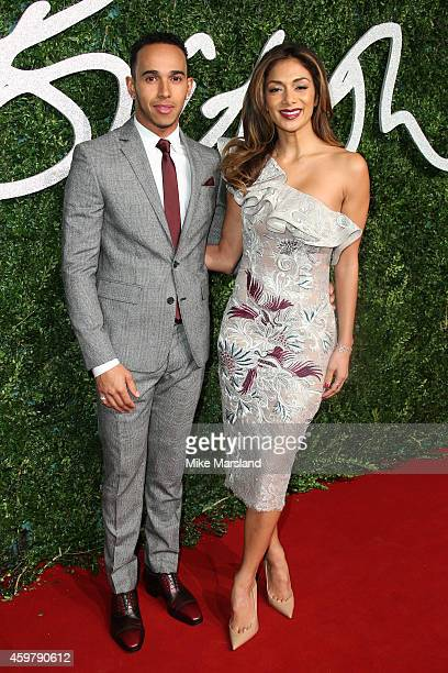 Lewis Hamilton and Nicole Scherzinger attend the British Fashion Awards at London Coliseum on December 1, 2014 in London, England.