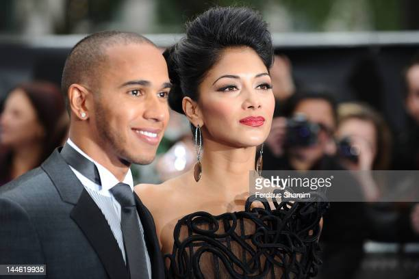Lewis Hamilton and Nicole Scherzinger attend the UK premiere of 'Men in Black 3' at Odeon Leicester Square on May 16, 2012 in London, England.