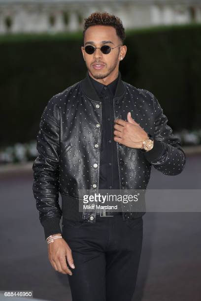 Lewis Hamilton arrives at the amfAR Gala Cannes 2017 at Hotel du CapEdenRoc on May 25 2017 in Cap d'Antibes France
