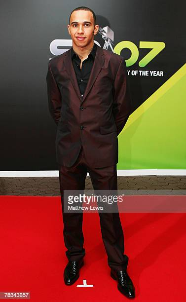 Lewis Hamilton arrives at the BBC Sports Personality of the Year Awards at the Birmingham NEC on December 09 2007 in Birmingham England