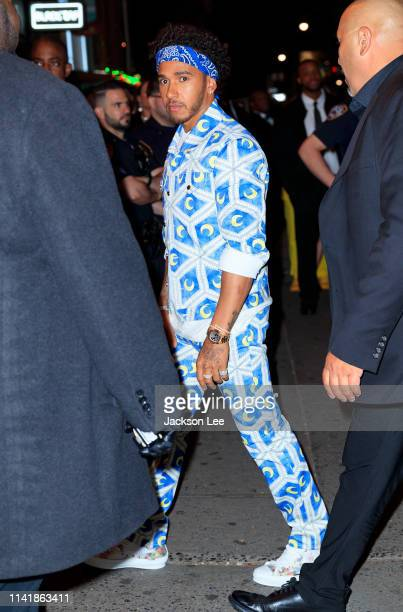 Lewis HAmilton at the official Met Gala afterparty at Up and Down on May 6 2019 in New York City