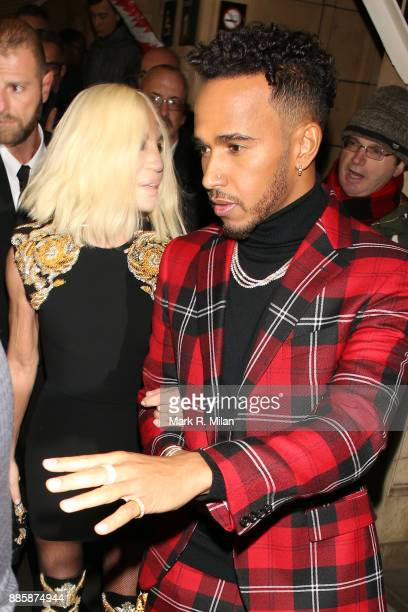 Lewis Hamilton attending The British Fashion Awards on December 3 2017 in London England