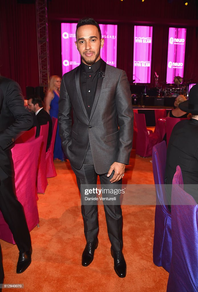 Lewis Hamilton attends Bulgari at the 24th Annual Elton John AIDS Foundation's Oscar Viewing Party at The City of West Hollywood Park on February 28, 2016 in West Hollywood, California.