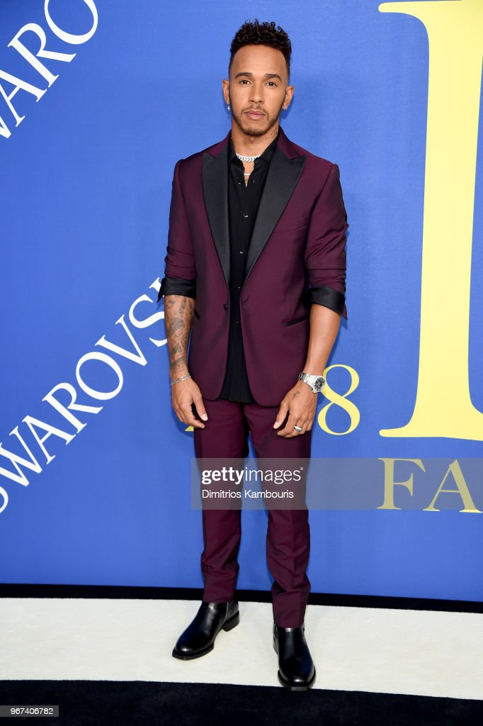 Lewis Hamilton attends the 2018 CFDA Fashion Awards at Brooklyn Museum on June 4, 2018 in New York City.