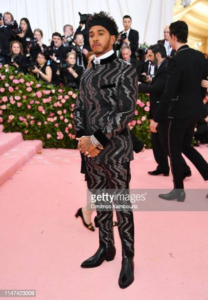 Lewis Hamilton attends The 2019 Met Gala Celebrating Camp Notes on Fashion at Metropolitan Museum of Art on May 06 2019 in New York City