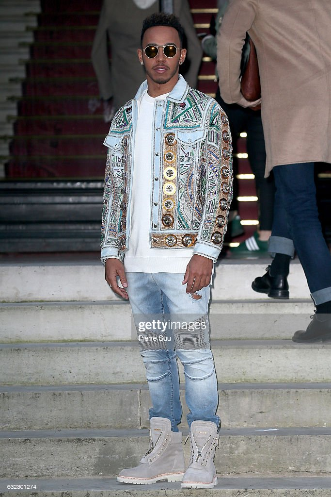 Balmain: Outside Arrivals - Paris Fashion Week - Menswear F/W 2017-2018