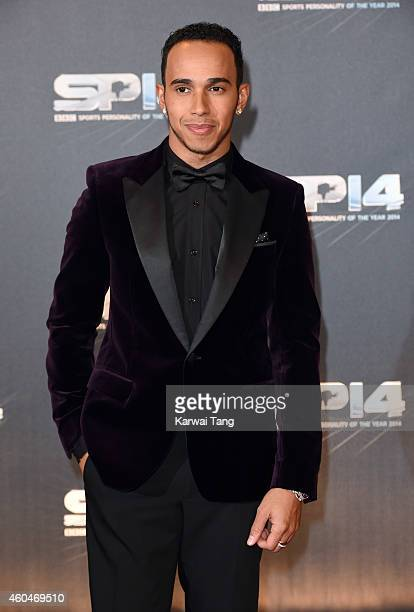 Lewis Hamilton attends the BBC Sports Personality of the Year awards at The Hydro on December 14 2014 in Glasgow Scotland