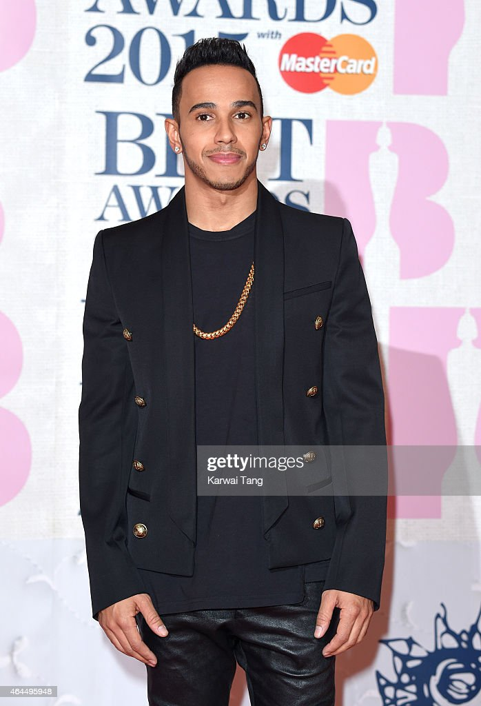 Lewis Hamilton attends the BRIT Awards 2015 at The O2 Arena on February 25, 2015 in London, England.
