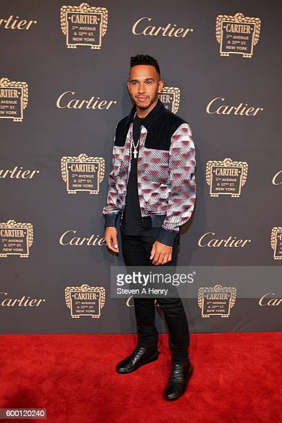 Lewis Hamilton attends the Cartier Fifth Avenue Mansion Reopening Party at Cartier Mansion on September 7 2016 in New York City
