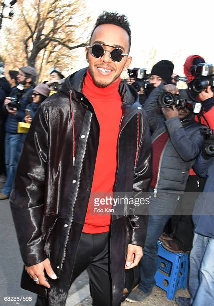 Lewis Hamilton attends the Dior Homme Menswear Fall/Winter 20172018 show as part of Paris Fashion Week on January 21 2017 in Paris France