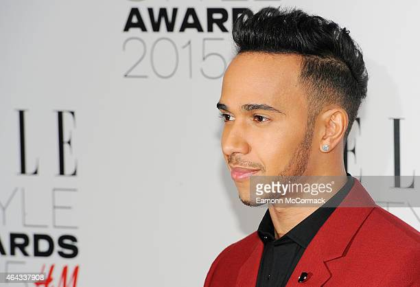 Lewis Hamilton attends the Elle Style Awards 2015 at Sky Garden @ The Walkie Talkie Tower on February 24 2015 in London England