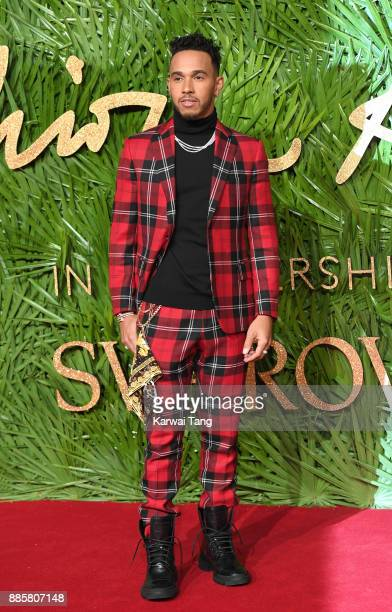 Lewis Hamilton attends The Fashion Awards 2017 in partnership with Swarovski at Royal Albert Hall on December 4 2017 in London England