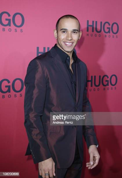 Lewis Hamilton attends the Hugo Boss Show during the Mercedes Benz Fashion Week Autumn/Winter 2011 at Neue Nationalgalerie on January 20 2011 in...