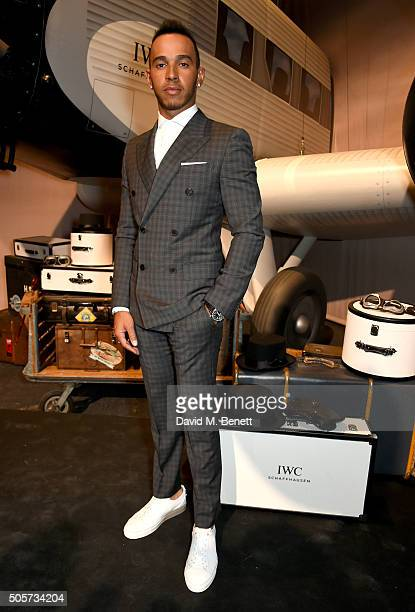 Lewis Hamilton attends the IWC 'Come Fly with us' Gala Dinner during the launch of the Pilot's Watches Novelties from the Swiss luxury watch...