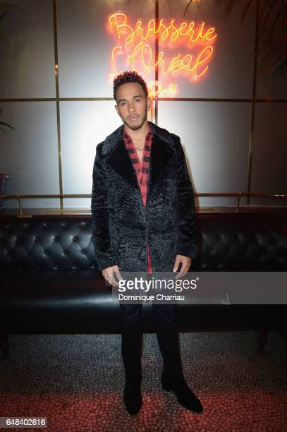 Lewis Hamilton attends the 'L'Oreal Paris Dinner Hosted By Julianne Moore' as part of the Paris Fashion Week Womenswear Fall/Winter 2017/2018 on...