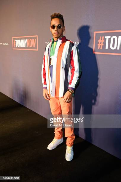 Lewis Hamilton attends the Tommy Hilfiger TOMMYNOW Fall 2017 Show during London Fashion Week September 2017 at The Roundhouse on September 19 2017 in...
