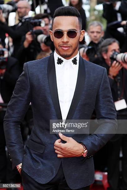 Lewis Hamilton attends 'The Unknown Girl ' Premiere during the 69th annual Cannes Film Festival at the Palais des Festivals on May 18 2016 in Cannes...