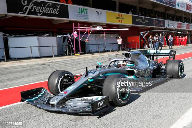 Lewis Hamilton during the winter test days at the Circuit de Catalunya in Montmelo February 18 2019