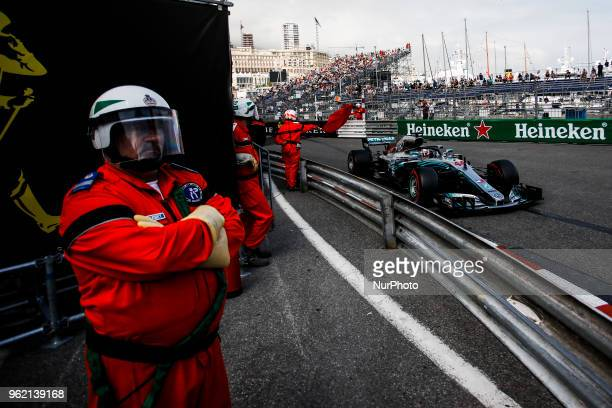 44 Lewis Hamilton from Great Britain Mercedes W09 Hybrid EQ Power team Mercedes GP during the Monaco Formula One Grand Prix at Monaco on 24th of May...