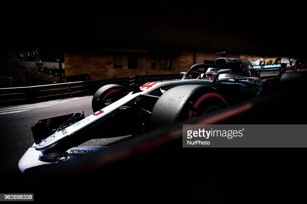 44 Lewis Hamilton from Great Britain Mercedes W09 Hybrid EQ Power team Mercedes GP during the Monaco Formula One Grand Prix at Monaco on 25 th of May...