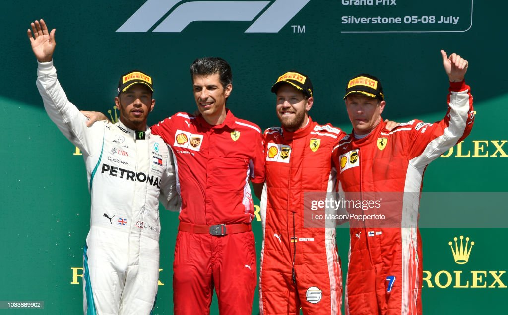 British F1 Grand Prix - Podium : News Photo
