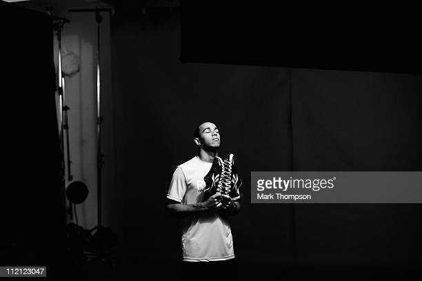Lewis Hamilton is seen during a Reebok ZigTech photo shoot on April 13, 2011 in Shanghai, China.